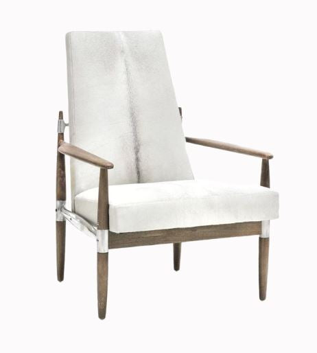 oly studio Scout Lounge Chair in a Hardwood Frame with Aluminum