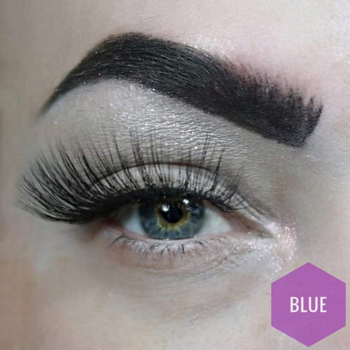 Blue 3D synthetic mermaid lashes