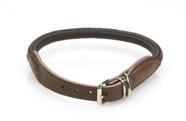Malucchi | Leather and Nylon Dog Collar - The Gorgeous Pet Boutique UK