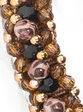Fabuleash | Leopard Beaded Dog Collar - The Gorgeous Pet Boutique UK