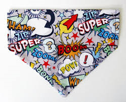 Top Pooch | Comic Boom Dog Bandana - The Gorgeous Pet Boutique UK