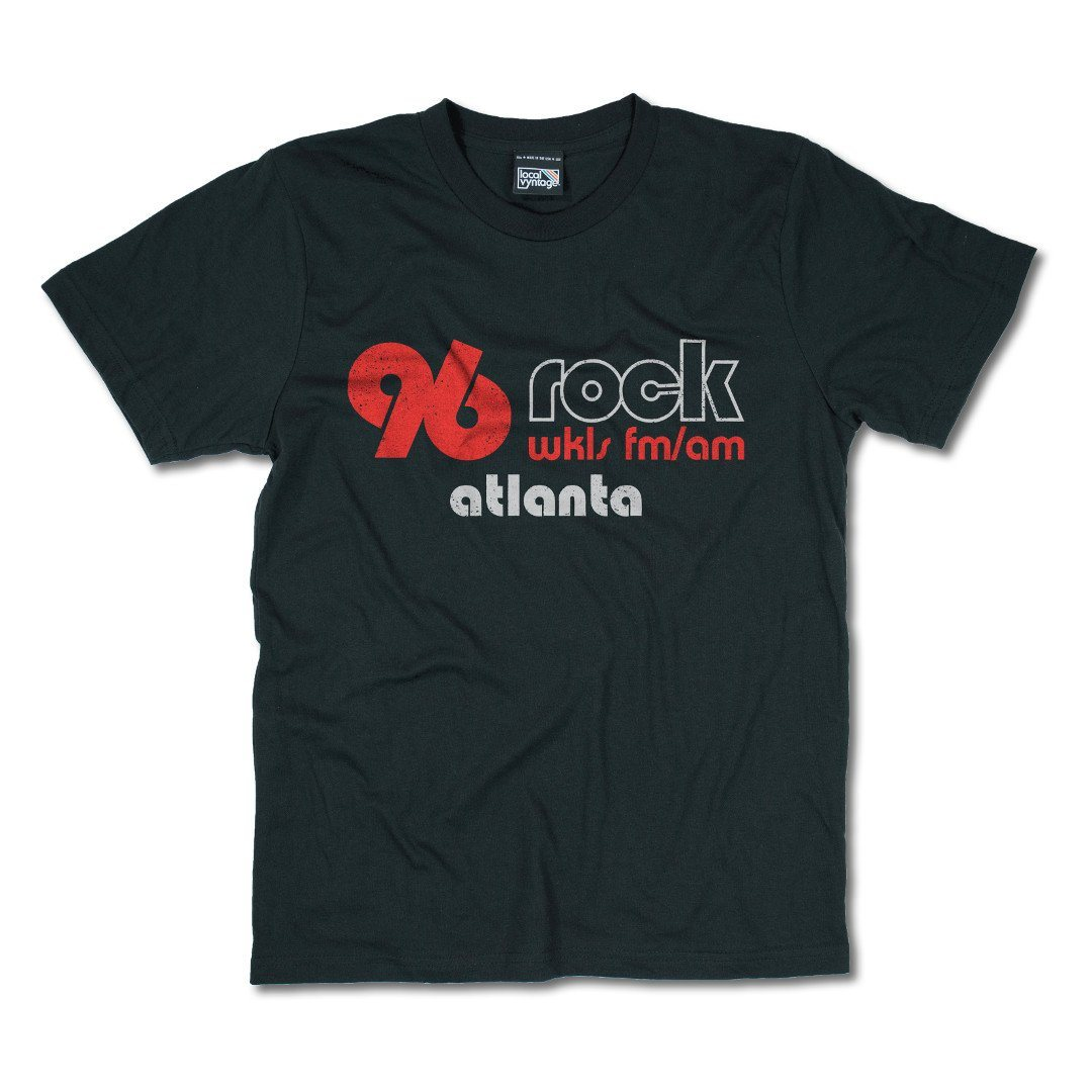 96 Rock Atlanta T-Shirt Front Black