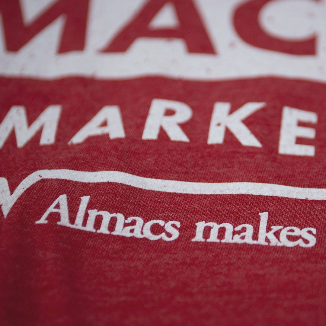 Almacs Super Markets Rhode Island T-Shirt Detail Red