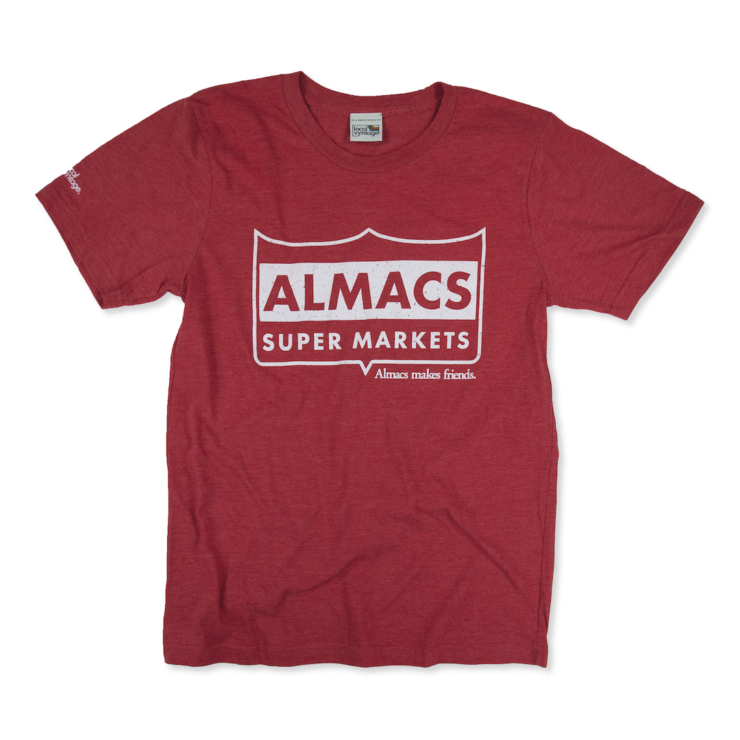 Almacs Super Markets Rhode Island T-Shirt Front Red