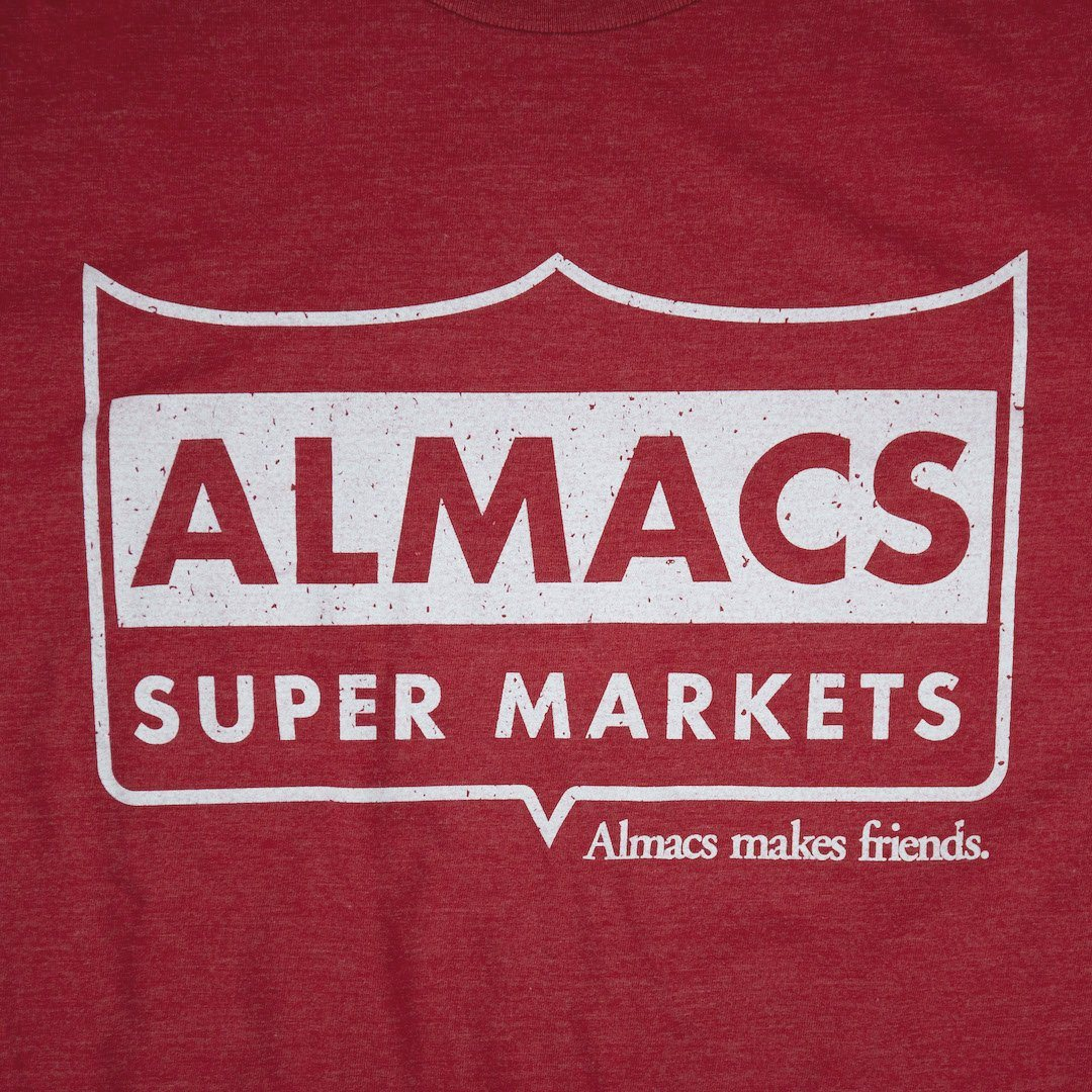 Almacs Super Markets Rhode Island T-Shirt Graphic Red
