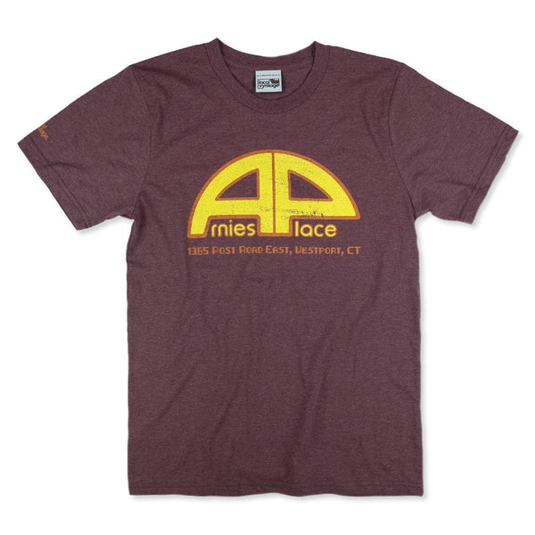 Arnie's Place Connecticut T-Shirt Front Burgundy