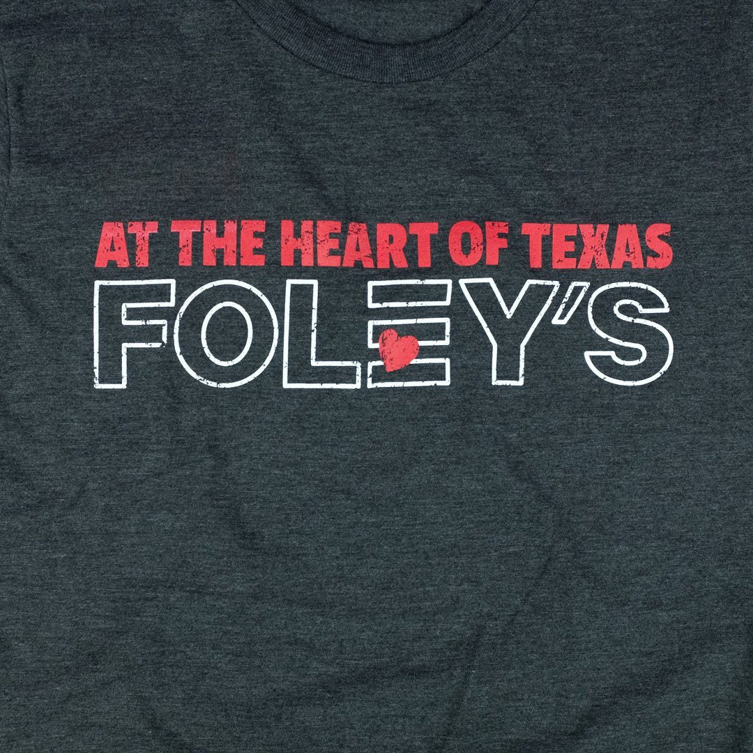 At The Heart Of Texas Foley's T-Shirt Graphic Dark Gray