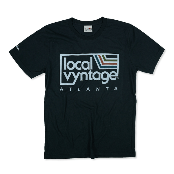 Local Vyntage Atlanta T-Shirt Front Black