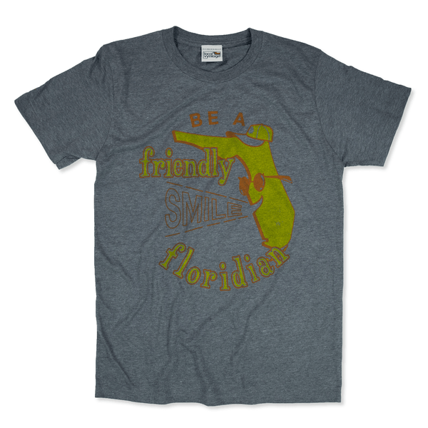 Be A Friendly Floridian T-Shirt Front Gray