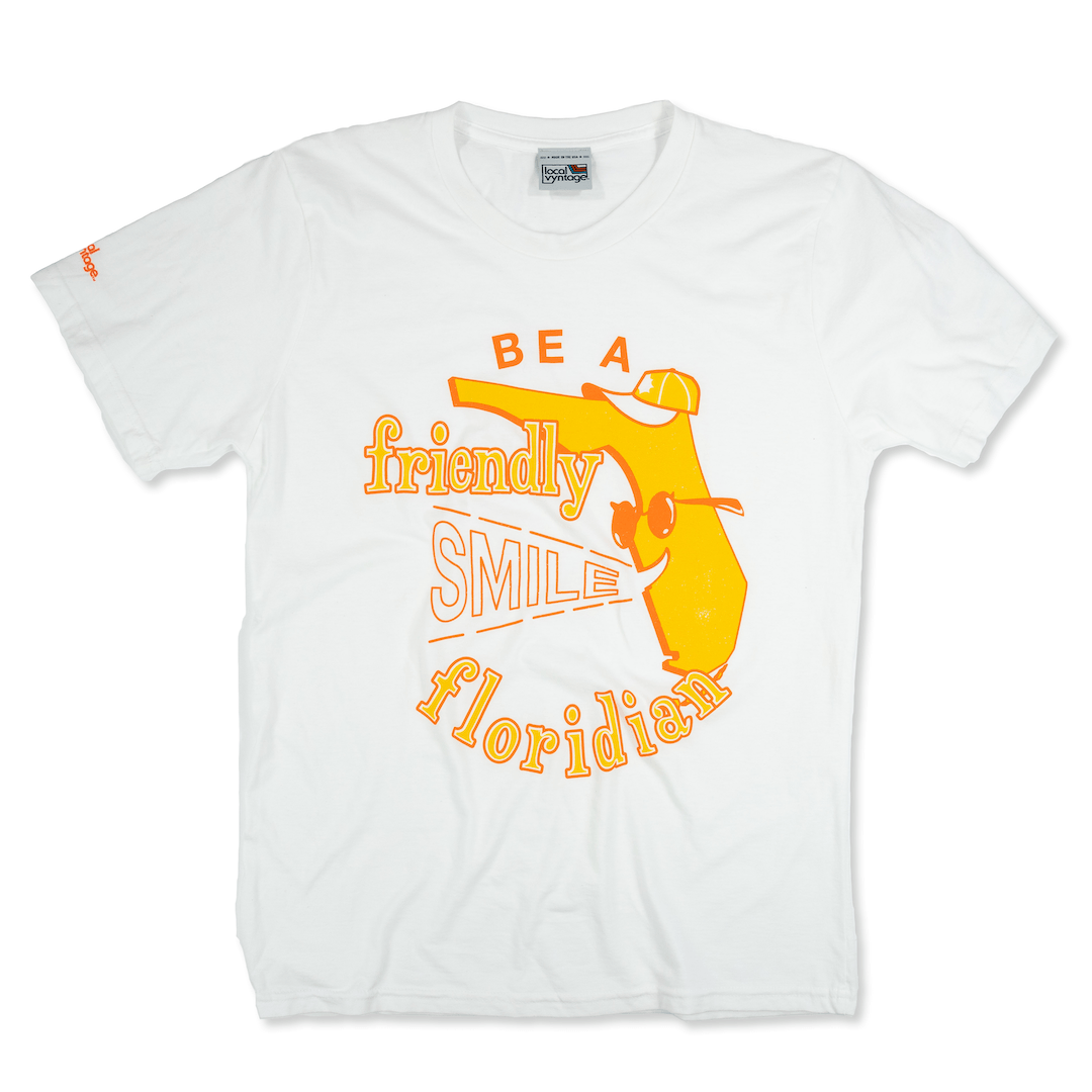 Be A Friendly Floridian T-Shirt Front White