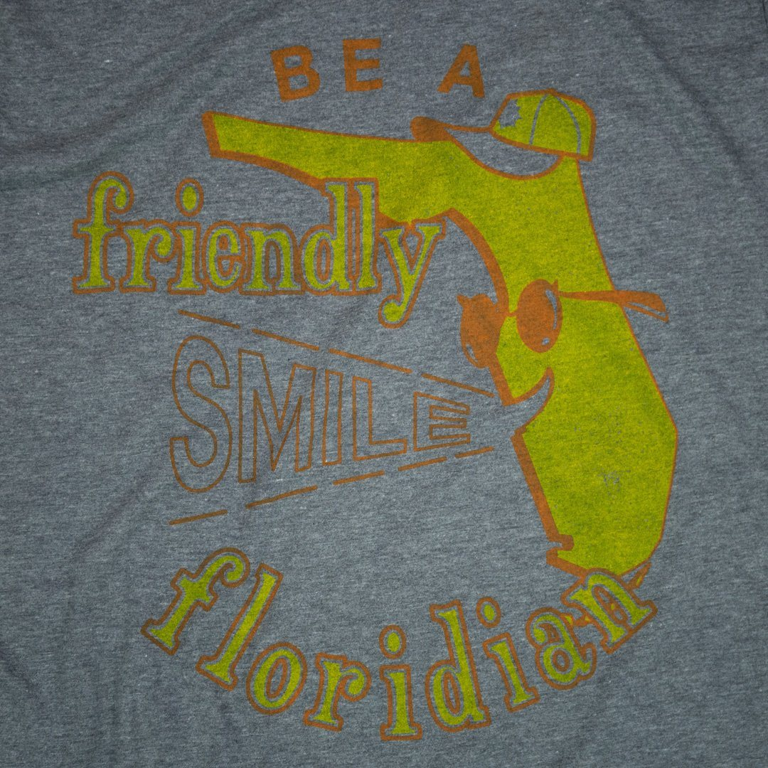 Be A Friendly Floridian T-Shirt Graphic Gray