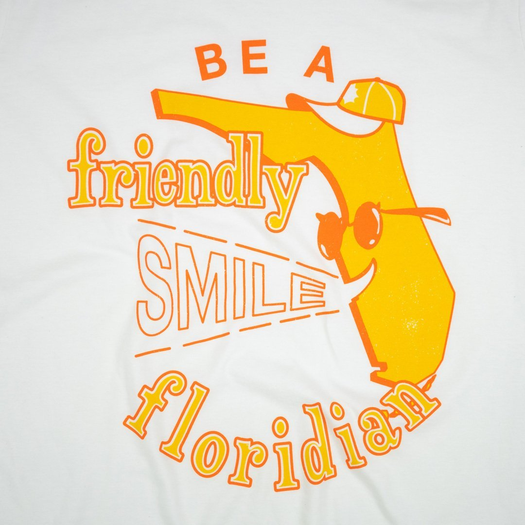 Be A Friendly Floridian T-Shirt Graphic White