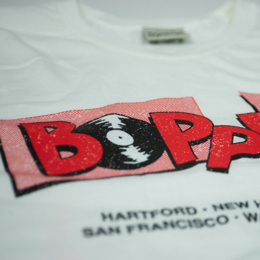 Boppers T-Shirt Detail White