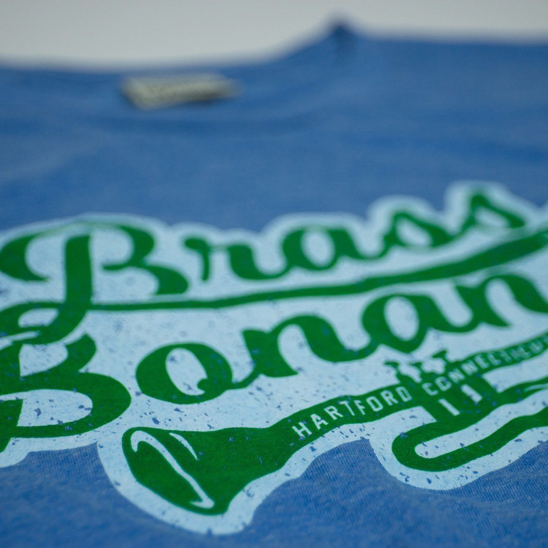 Brass Bonanza T-Shirt Detail Royal Blue
