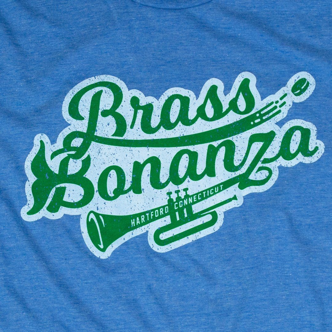 Brass Bonanza T-Shirt Graphic Royal Blue