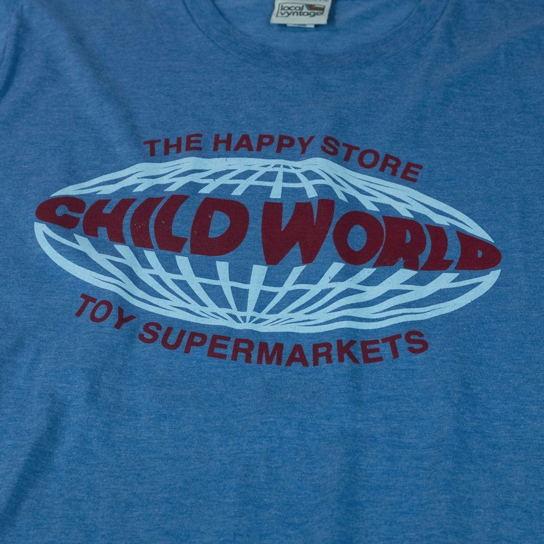 Child World T-Shirt Graphic Royal Blue