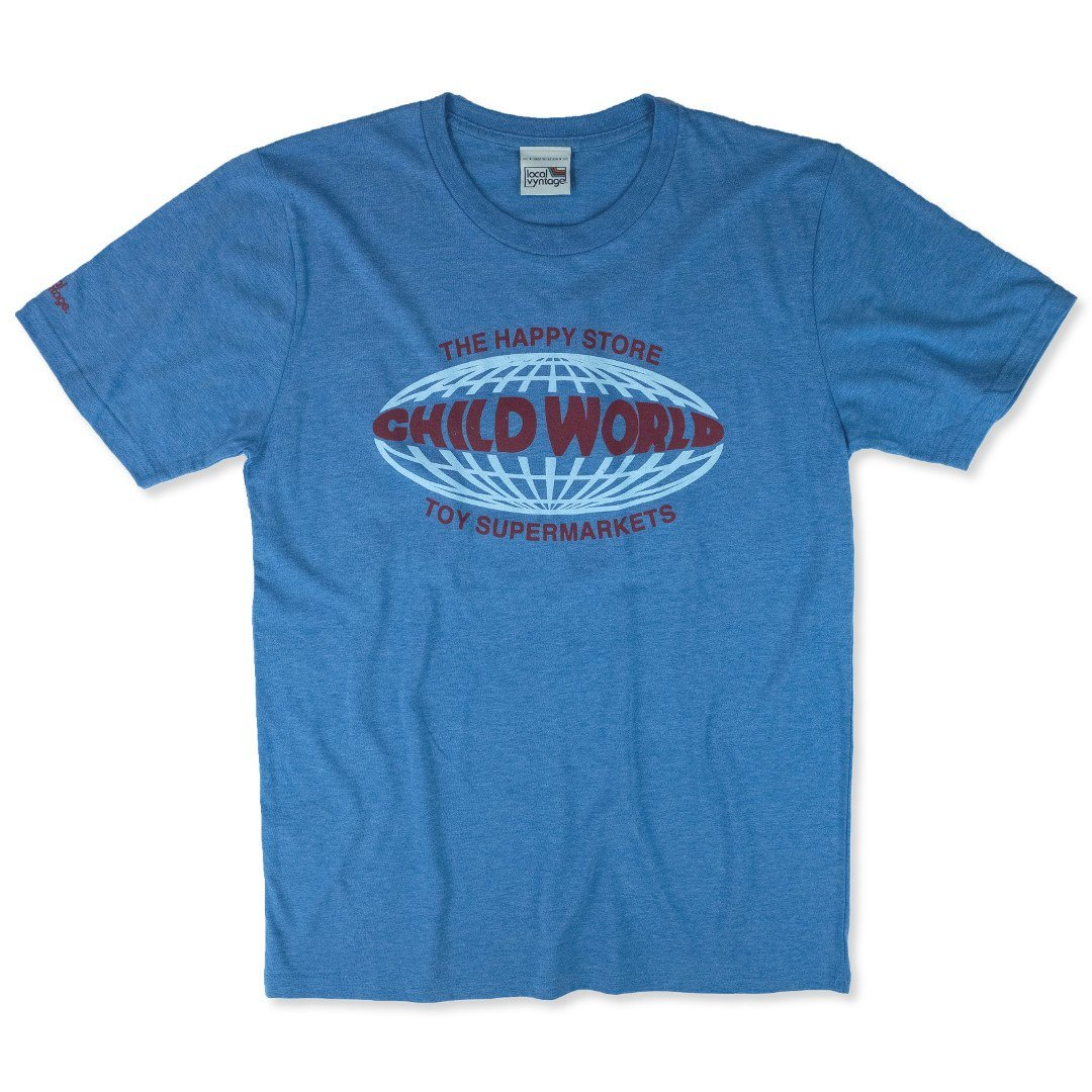Child World T-Shirt Front Royal Blue