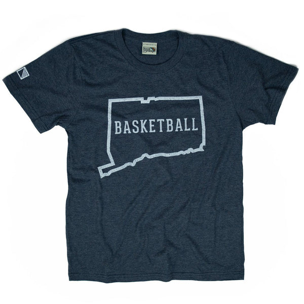 Connecticut Basketball T-Shirt Front Dark Blue