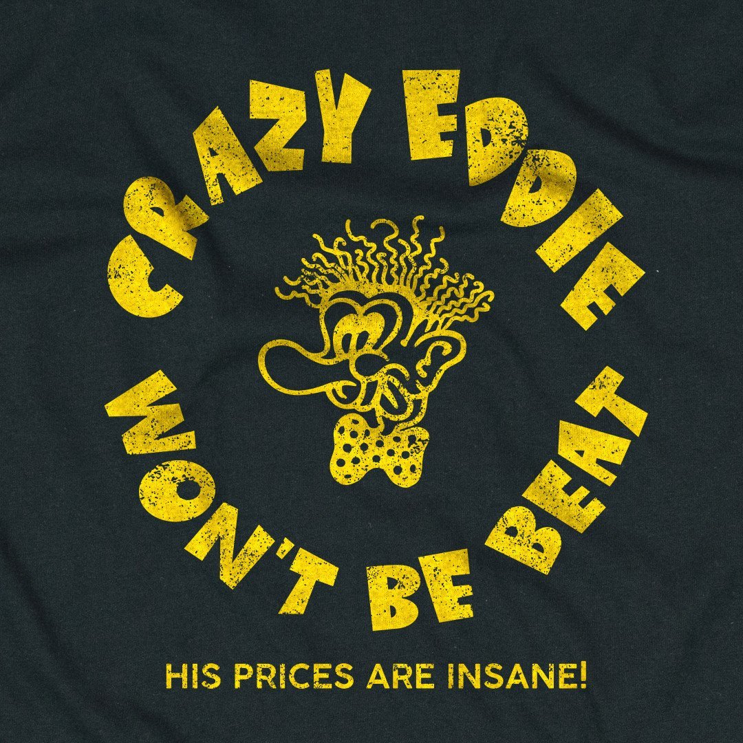 Crazy Eddie T-Shirt Graphic Black