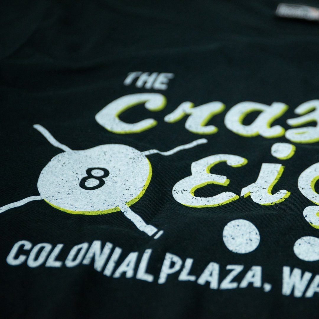 Crazy Eight T-Shirt Detail Black