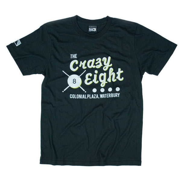 Crazy Eight T-Shirt Front Black
