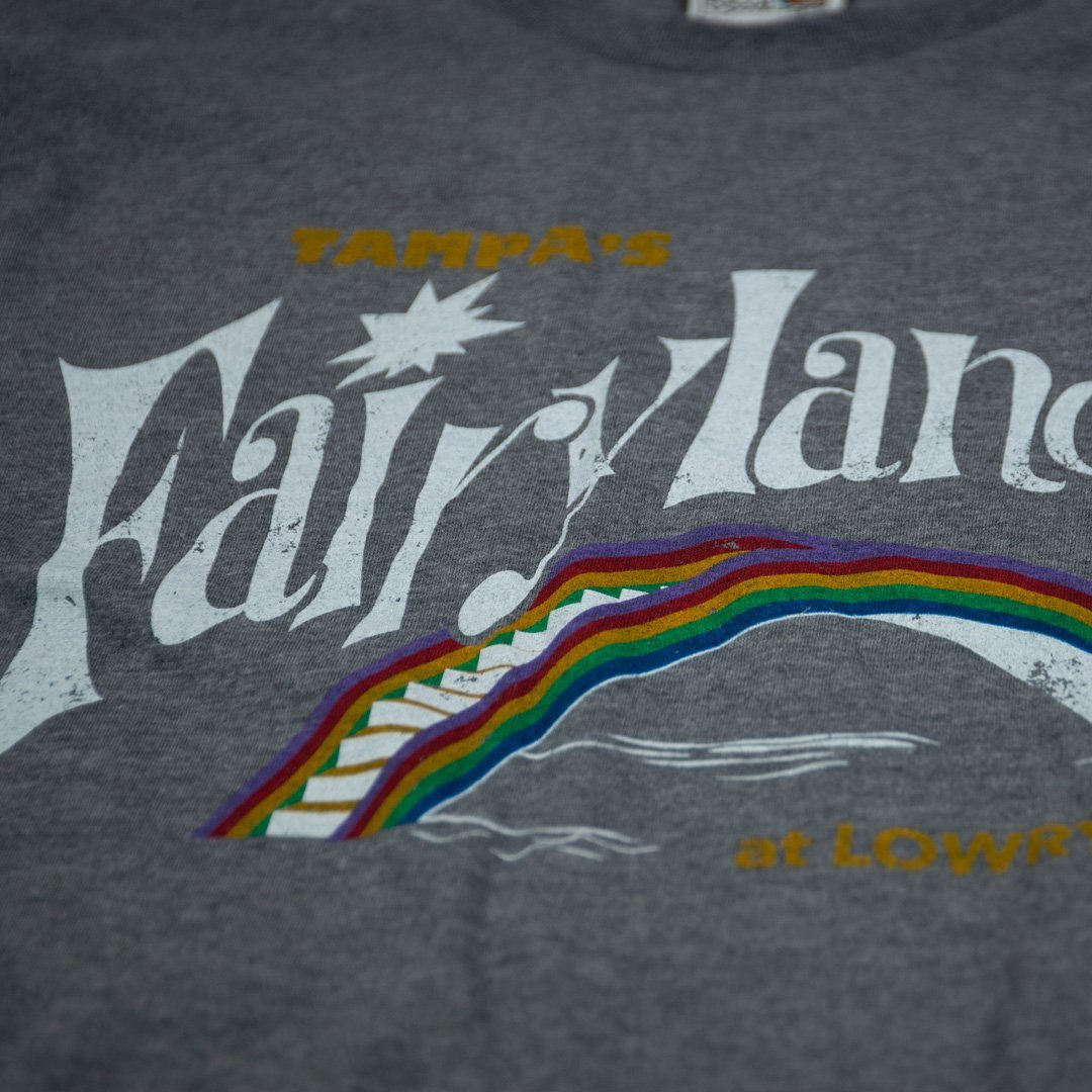 Fairyland at Lowry Park Tampa T-Shirt Detail Gray