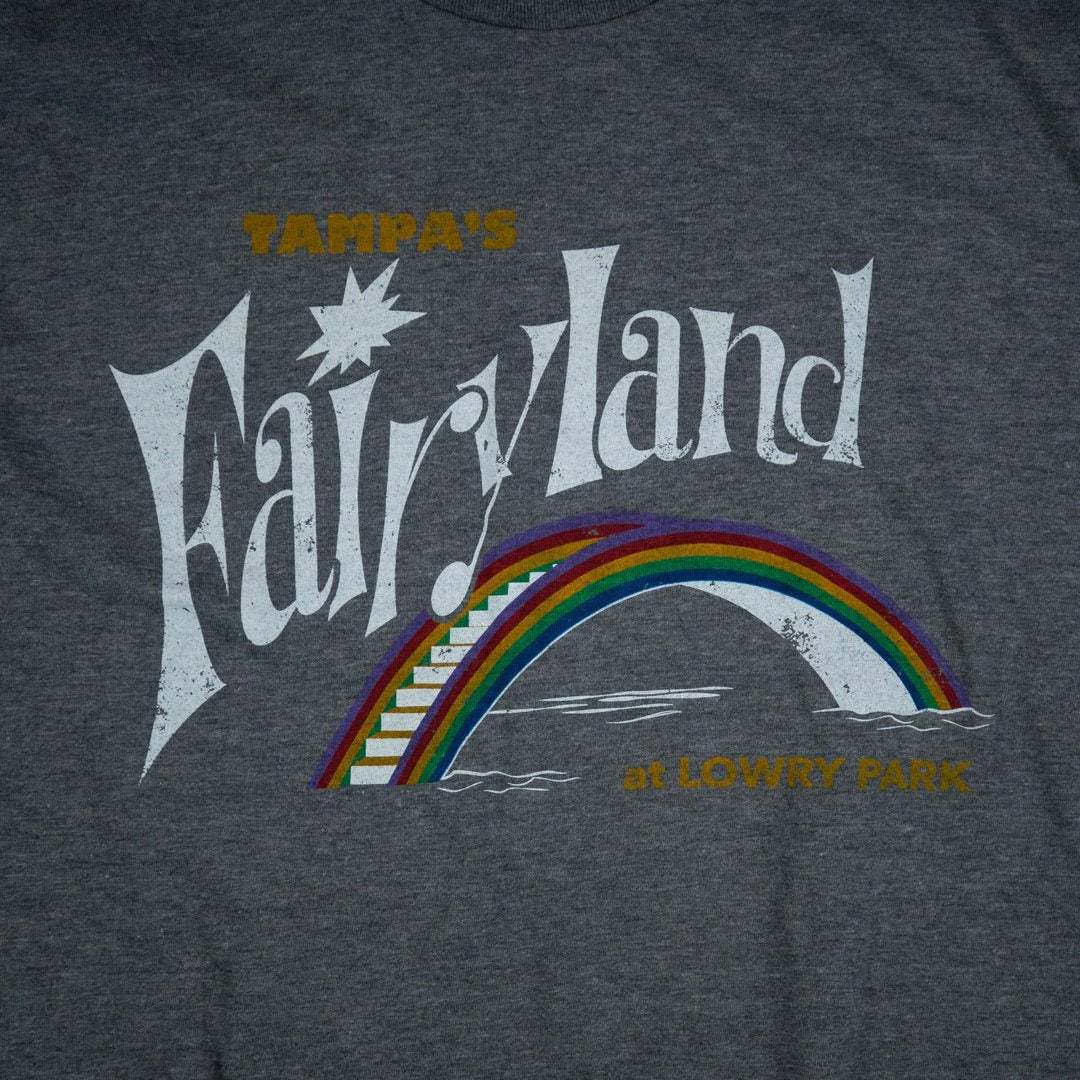 Fairyland at Lowry Park Tampa T-Shirt Graphic Gray