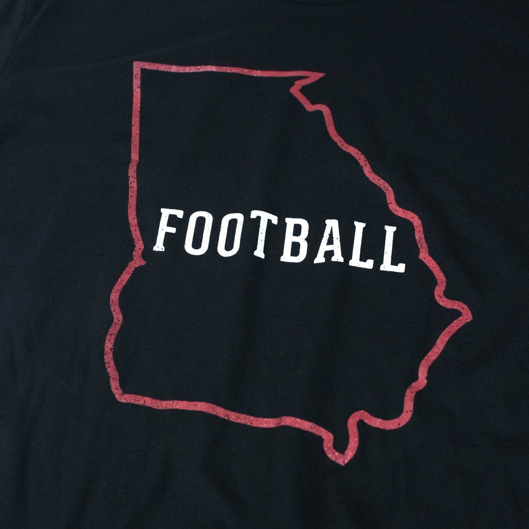 Georgia Football T-Shirt Detail Black