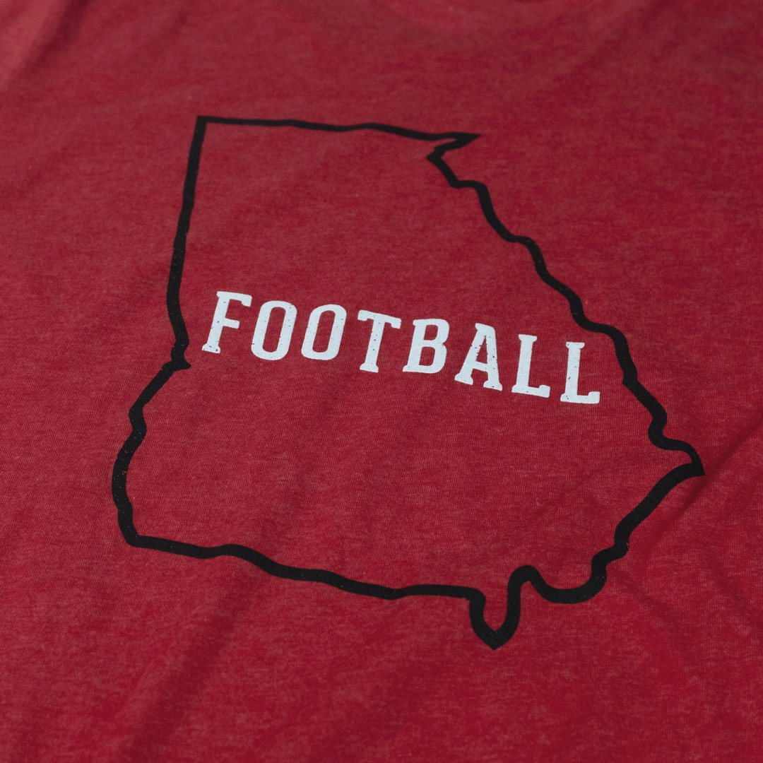 Georgia Football T-Shirt Detail Red