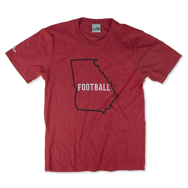 Georgia Football T-Shirt Front Red