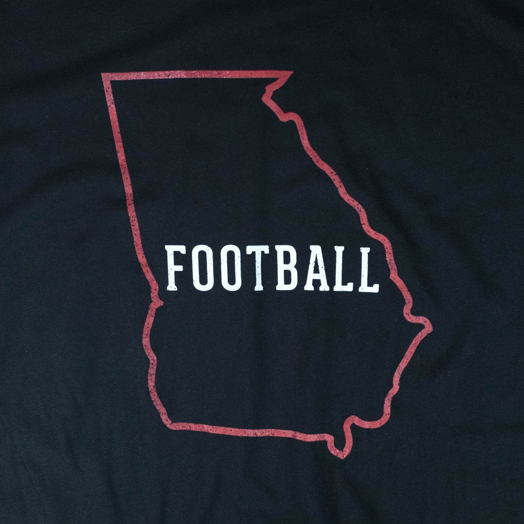 Georgia Football T-Shirt Graphic Black