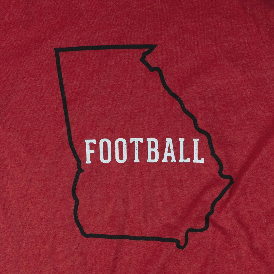 Georgia Football T-Shirt Graphic Red