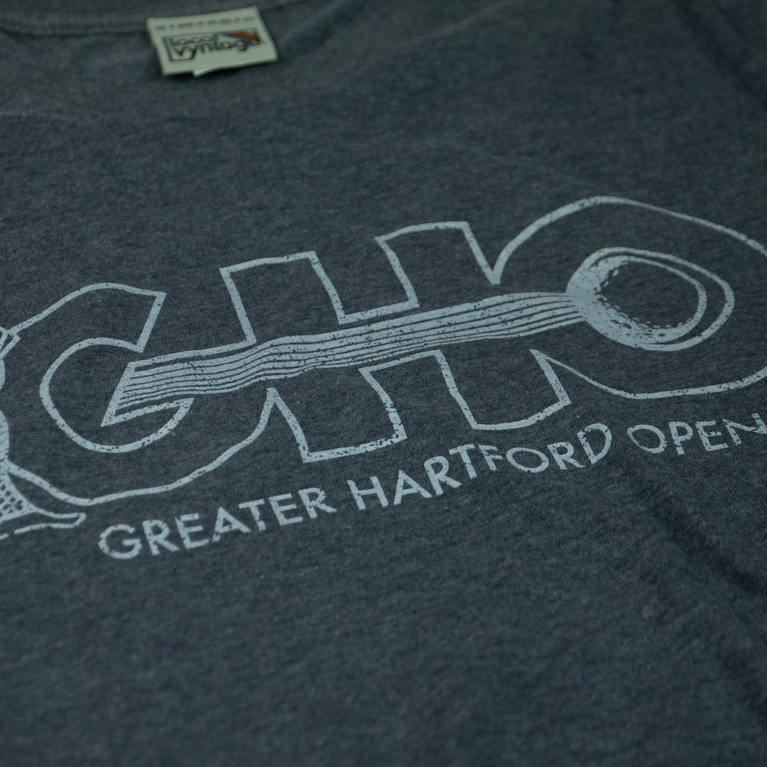 GHO Greater Hartford Open T-Shirt Detail Gray