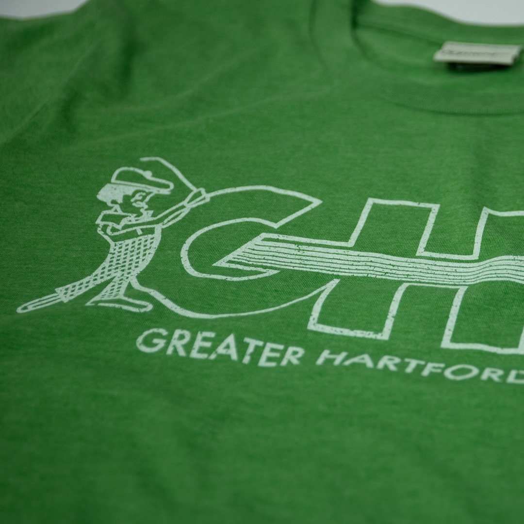 GHO Greater Hartford Open T-Shirt Detail Kiwi Green