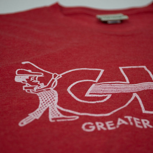 GHO Greater Hartford Open T-Shirt Detail Red Men's