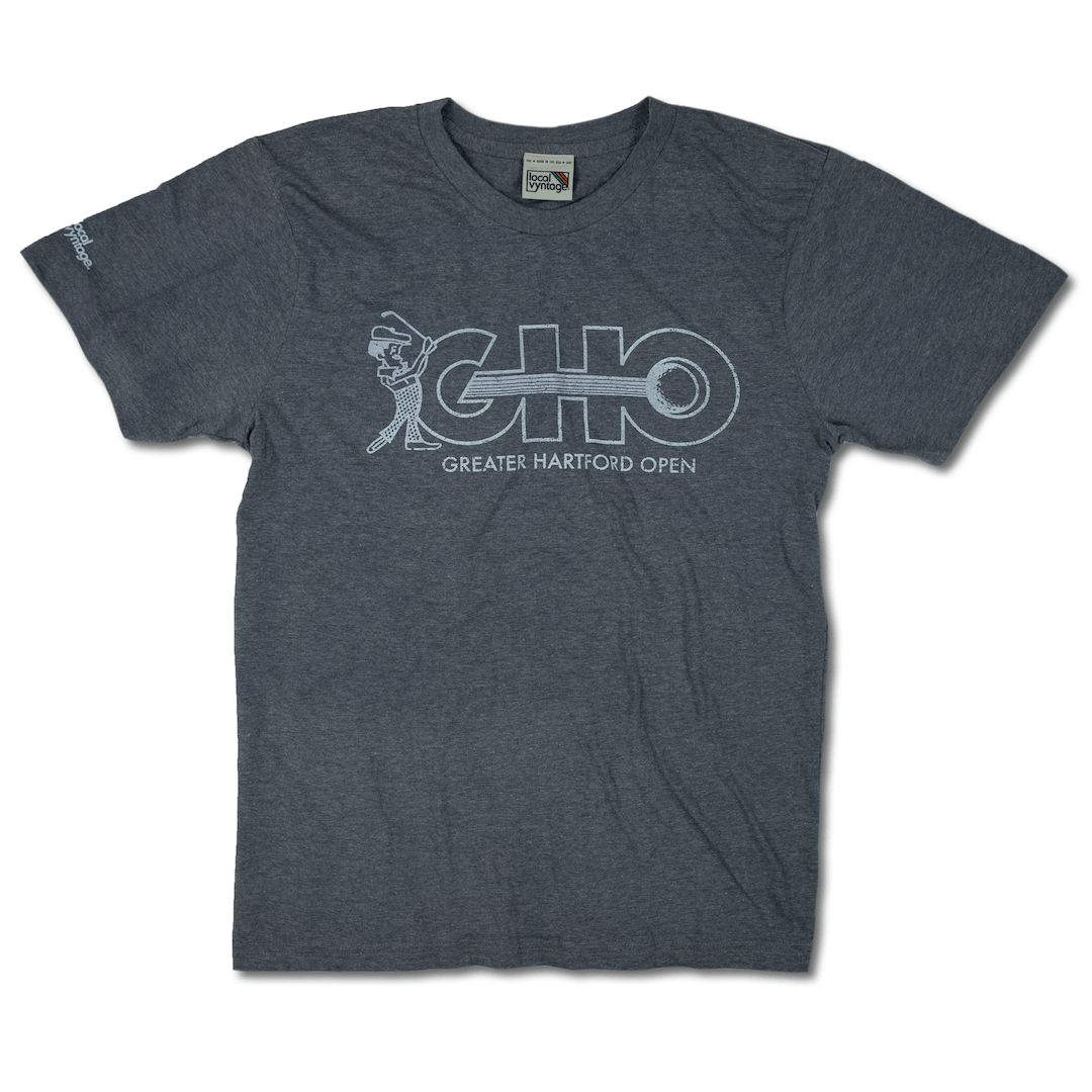 GHO Greater Hartford Open T-Shirt Front Gray