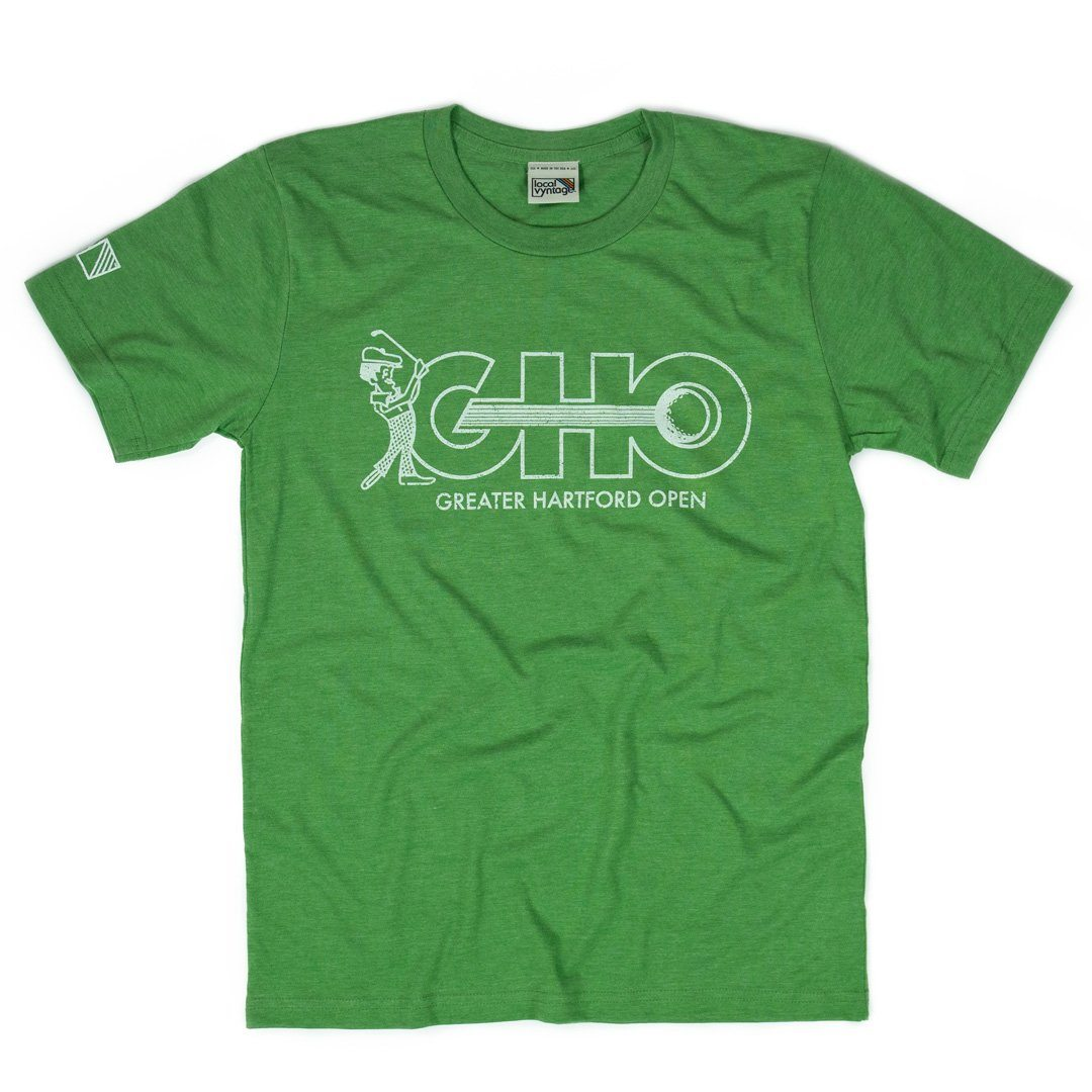 GHO Greater Hartford Open T-Shirt Front Kiwi Green