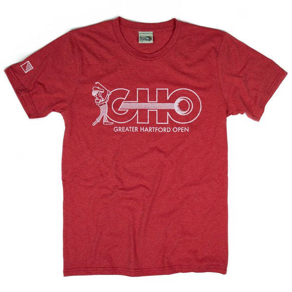 GHO Greater Hartford Open T-Shirt Front Red Men's
