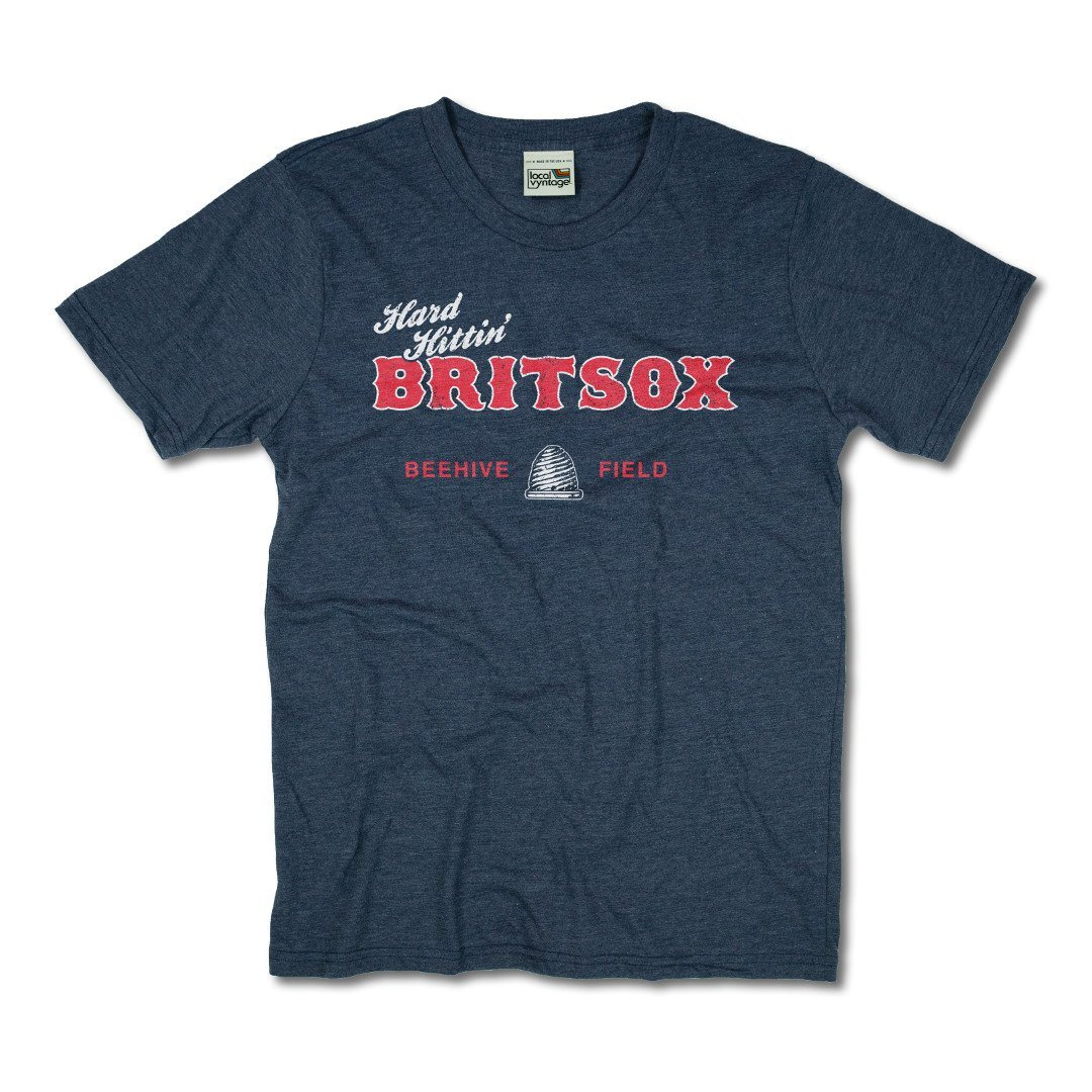 Hard Hittin BritSox Connecticut T-Shirt Front Dark Blue
