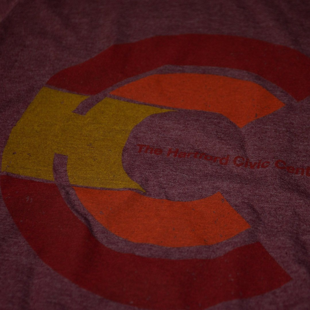 Hartford Civic Center T-Shirt Detail Burgundy