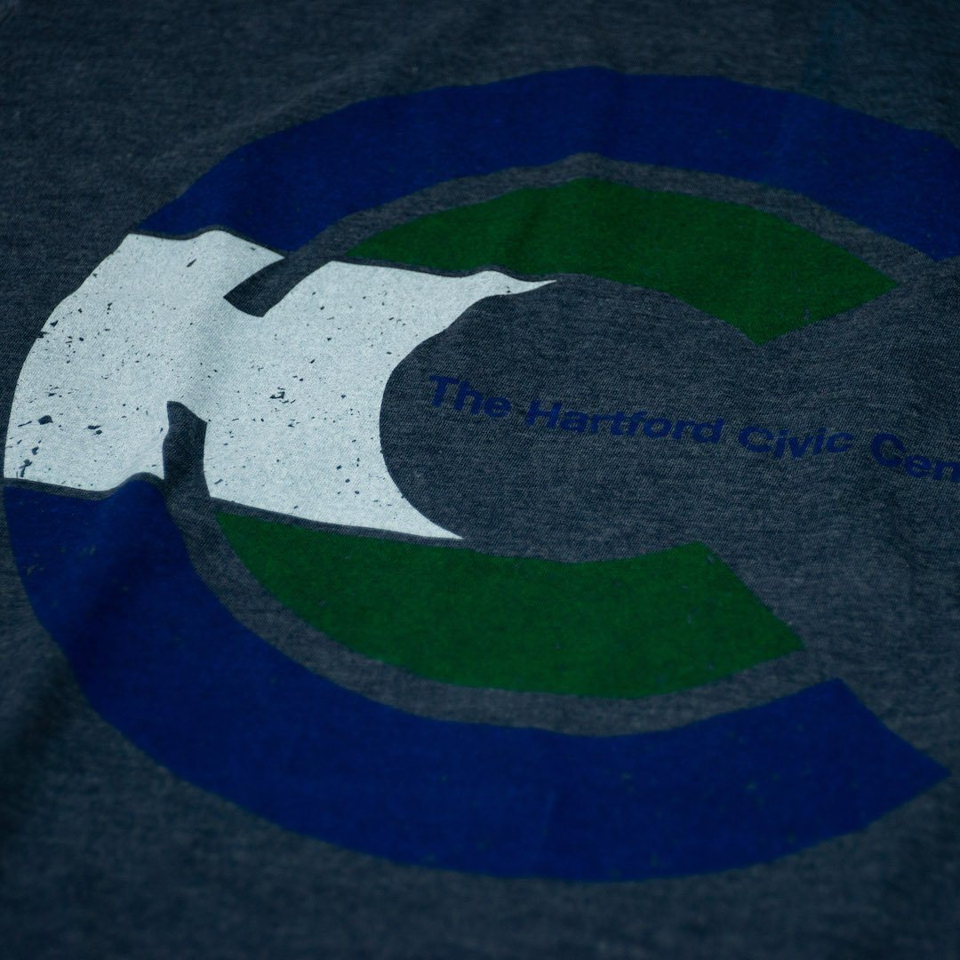Hartford Civic Center T-Shirt Detail Dark Blue