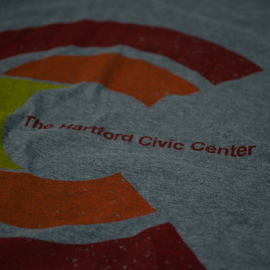Hartford Civic Center T-Shirt Detail Grey With Red