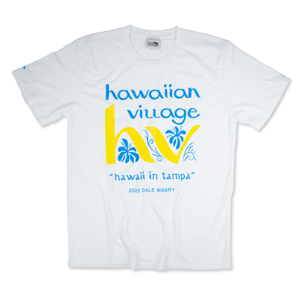 Hawaiian Village Tampa T-Shirt Front White