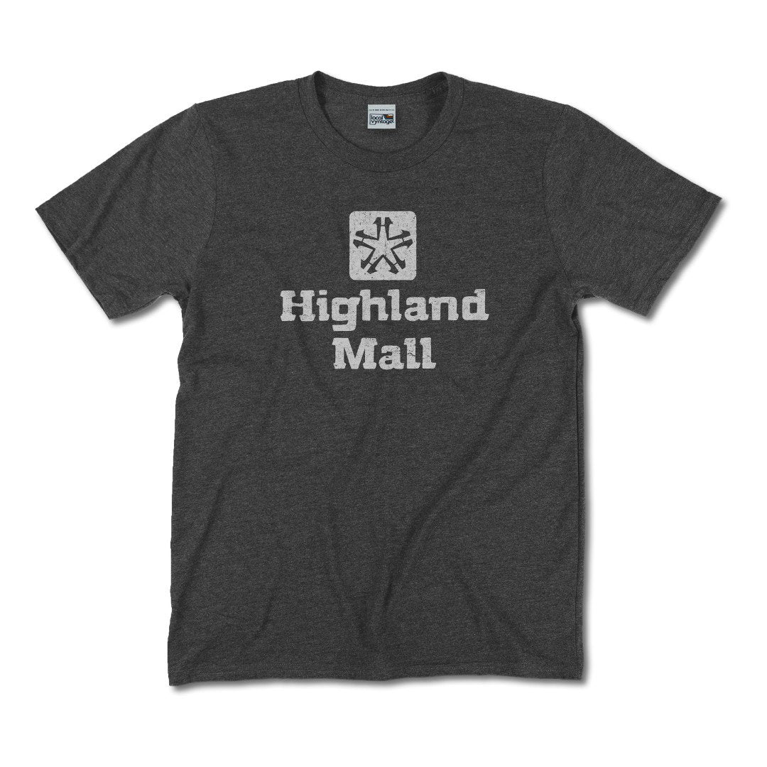 Highland Mall Austin T-Shirt Front Dark Gray