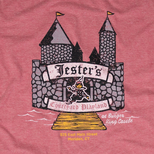 Jester's Courtyard T-Shirt Front Faded Red Men's