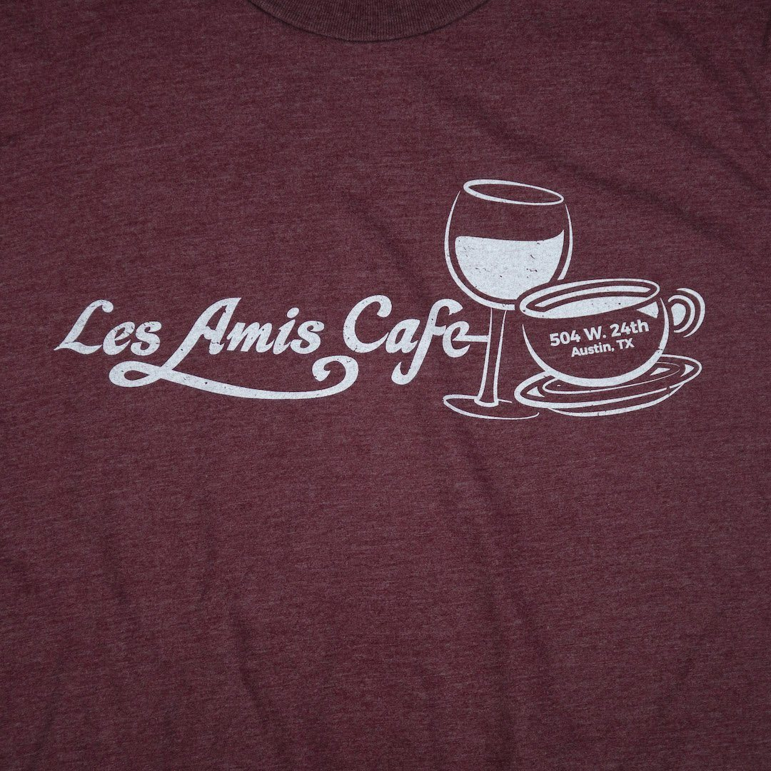 Les Amis Austin T-Shirt Graphic Burgundy