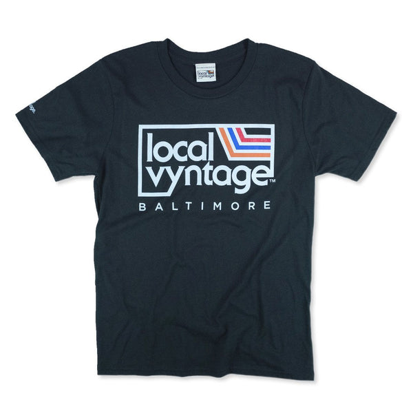 Local Vyntage Baltimore Logo T-Shirt Front Black
