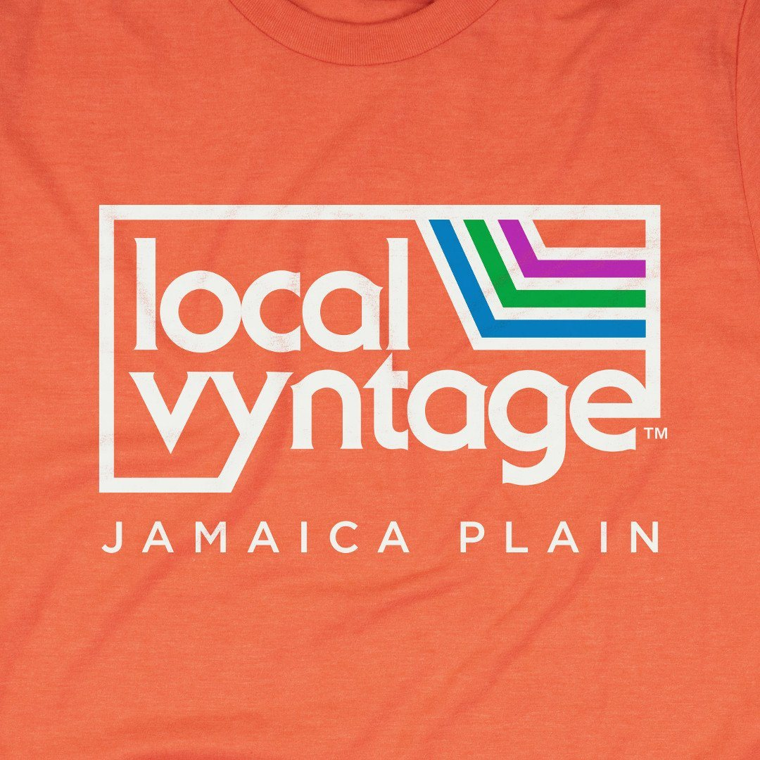 Local Vyntage Jamaica Plain T-Shirt Graphic Orange