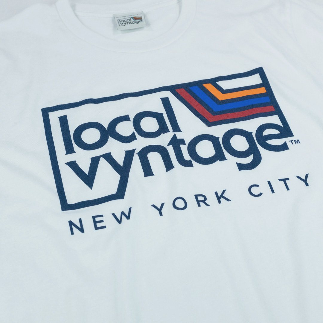 Local Vyntage NYC Logo T-Shirt Detail White