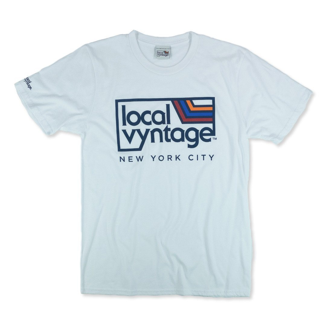 Local Vyntage NYC Logo T-Shirt Front White